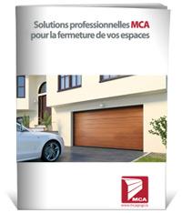 Mca power door sectional garage doors with photovoltaic for Porte de garage mca